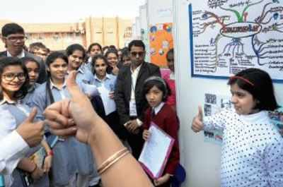 School teachers, who had accompanied the students, praised the idea of the Open Day.