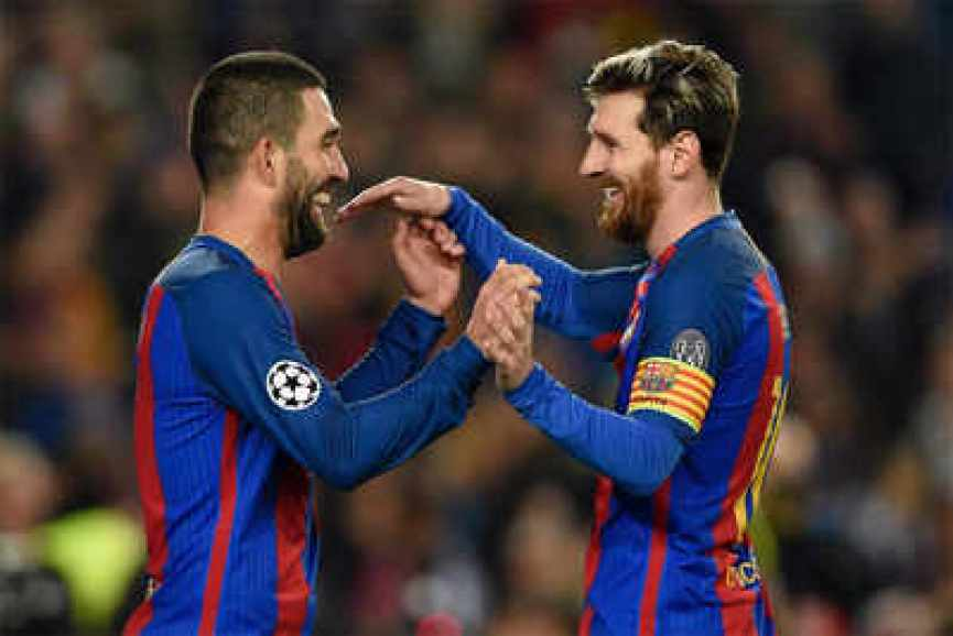 Image result for UEFA Champions League: Perfect 10 for Lionel Messi as Barcelona blank Monchengladbach 4-0