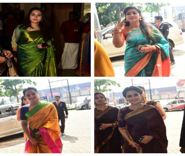 Pics Girlfriends Steal The Show At Actress Bhavanas Wedding