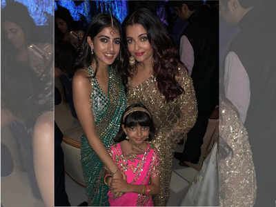 Photo: Aaradhya Bachchan strikes a pose with mother Aishwarya Rai Bachchan and cousin Navya Naveli Nanda