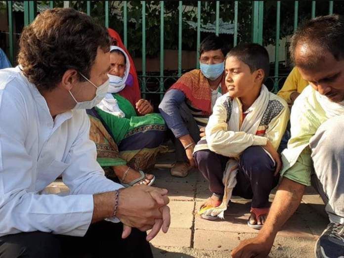Rahul Gandhi interacts with home-bound migrant workers amid ...