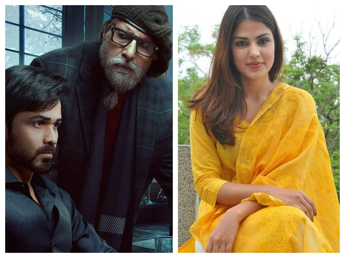 Rhea Chakraborty missing from 'Chehre' poster; Twitterati ask if Krystal  D'souza replaced the actress | Hindi Movie News - Times of India