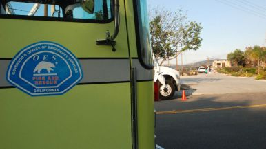Firefighters from throughout Southern California responded to North County fires.