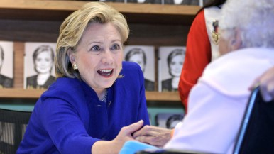 Hillary Clinton at La Jolla book signing. Photo by Chris Stone