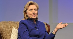 Hillary Clinton speaks at BIO International Convention in San Diego. Photo by Chris Stone
