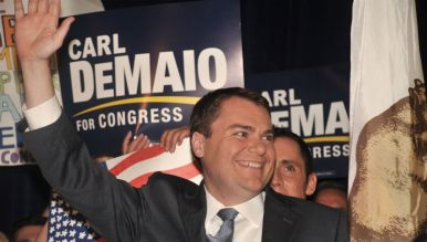 Carl DeMaio acknowledges supporters. Photo by Chris Stone