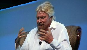 Sir Richard Branson answers questions at the 2014 BIO International Convention. Photo by Ken Stone