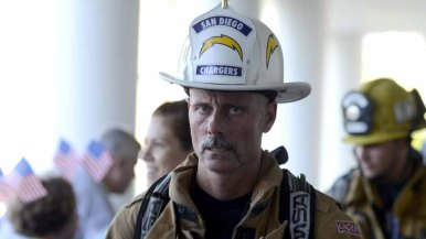 A firefighter and Charger fan continues his journey up 30 flights of stairs three times.