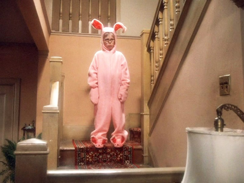 A Christmas Story pink bunny pajama