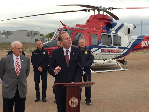 Kevin Faulconer fire-rescue copter
