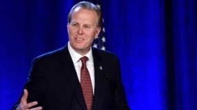 San Diego Mayor Kevin Faulconer speaks to fellow Republicans at Hotel Del Coronado.