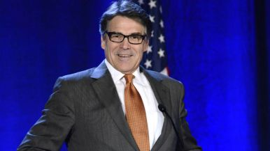 Texas Gov. Rick Perry reflects on a point at RNC Winter meeting at the Hotel Del Coronado.
