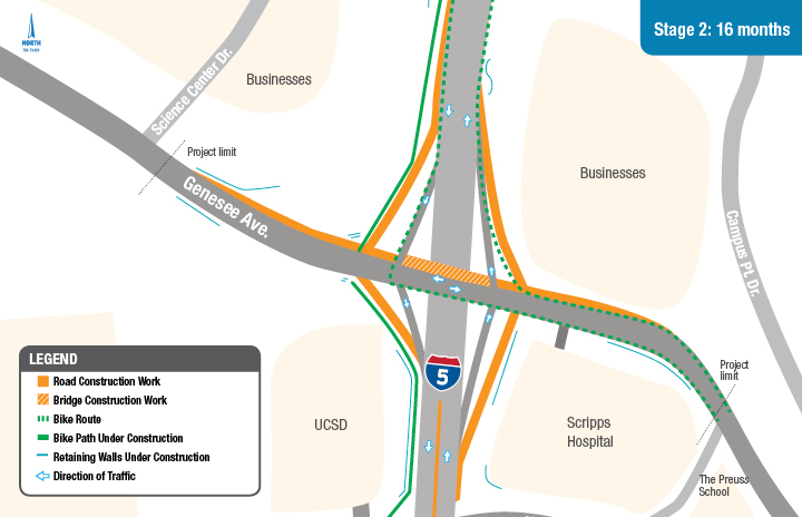 Interstate 5/Genesee Avenue interchange