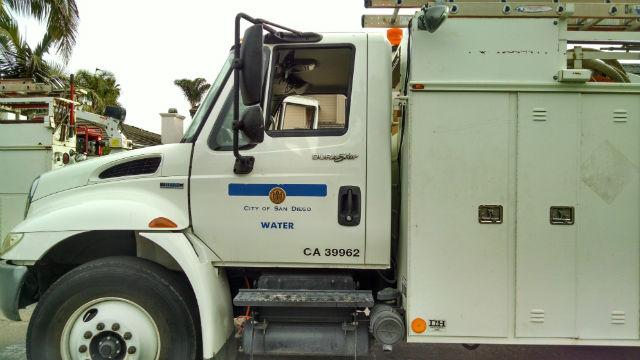 Water department truck