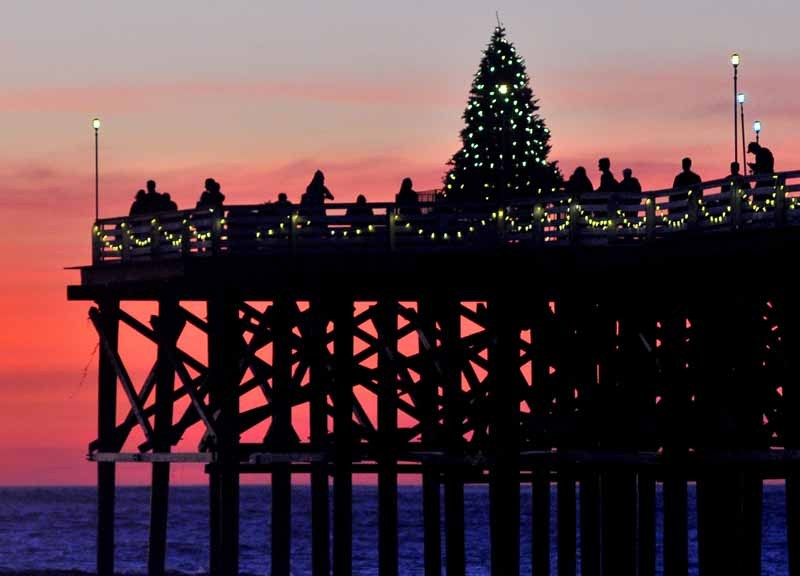 Christmas tree on Crystal Pier