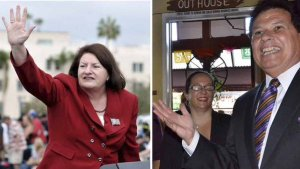 Assembly Speaker Toni Atkins and state Sen. Marty Block. Photos by Times of San Diego