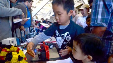 About 130 booths gave children hands-on learning experiences. Photo by Chris Stone
