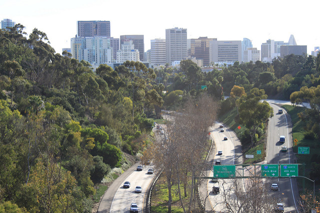 State Route 163 near downtown San Diego