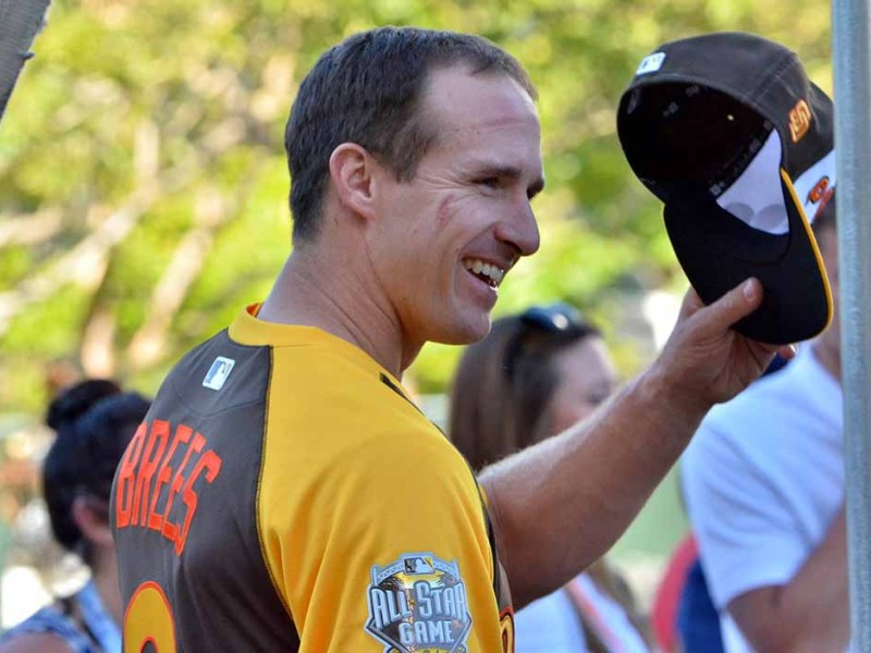 Former Chargers quarterback Drew Brees heard the most cheers at Petco Park.