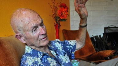 David Burnight said he had been part of several movements in his 91 years. Photo by Ken Stone