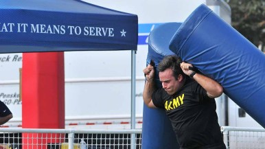 NFL Boot Camp drew an Army team to Marine Corps Air Station Miramar. Photo by Chris Stone