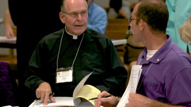 Lay people and priests took part in the two-day San Diego snyod at diocesan headquarters. Photo by Chris Stone