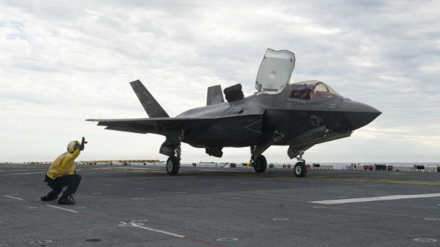 F-35B on USS America