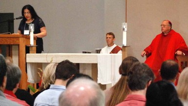 San Diego Bishop Robert McElroy celebrated Mass during the synod. Photo by Chris Stone