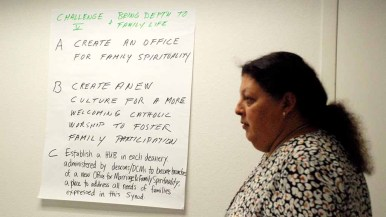 Concrete actions were discussed at the synod. Photo by Chris Stone