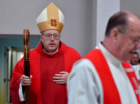 San Diego Bishop Robert McElroy celebrated Mass at the synod. Photo by Chris StonePhoto by Chris Stone
