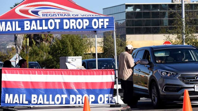 Mail ballot drop off