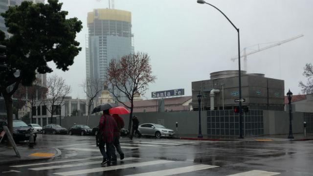 Rain in downtown