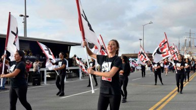 San Diego State University won first place for an educational unit in the annual Martin Luther King Parade. Photo by Chris Stone