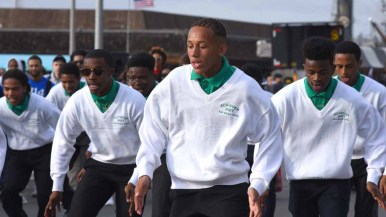 San Diego Link Achievers won first place for a marching unit in the annual Martin Luther King Parade. Photo by Chris Stone