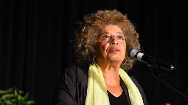 Angela Davis said Donald Trump benefited from globalism, which she called a form of illegal immigration for corporations. Photo by Chris Stone