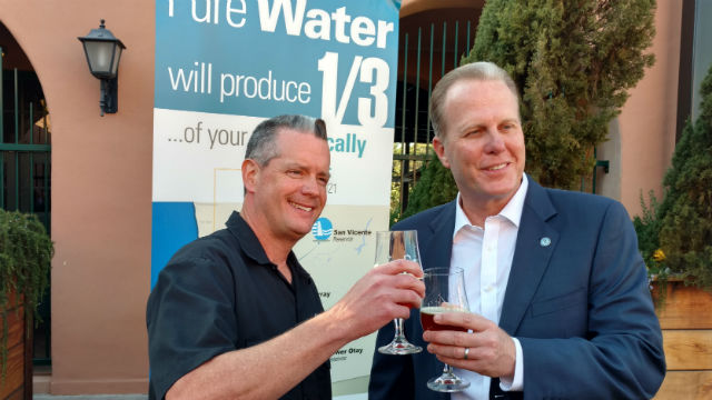 Beer from recycled water