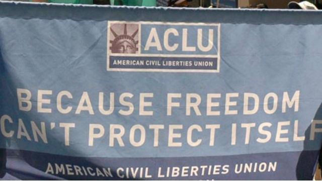 An ACLU banner.