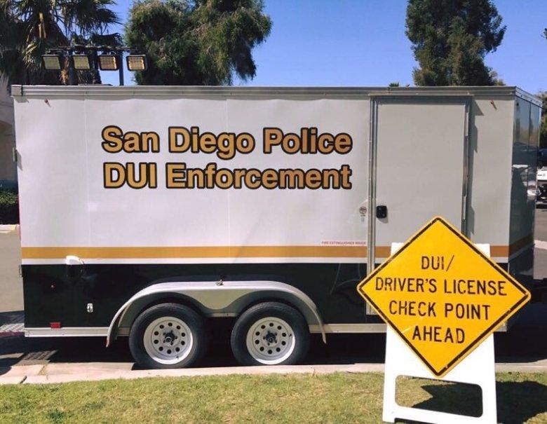 A San Diego Police DUI checkpoint. Courtesy SDPD