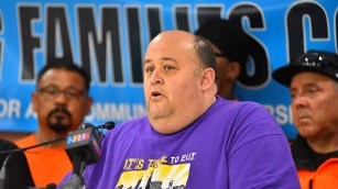 """David Garcias, president of the local SEIU union, said """"it wasn't a tough decision"""" to leave the labor council. Photo by Ken Stone"""