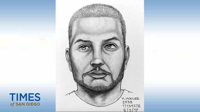 Sketch of man suspected of following teen girls in East County.