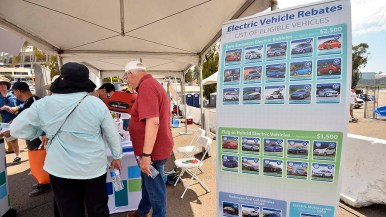 National and state incentives are available to electric vehicle buyers.