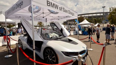 BMW showed off several models of electric vehicles