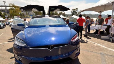 The Tesla Model X caught attention.