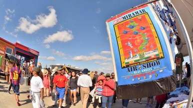 Tens of thousands of people were on hand for the Saturday Miramar Air Show.