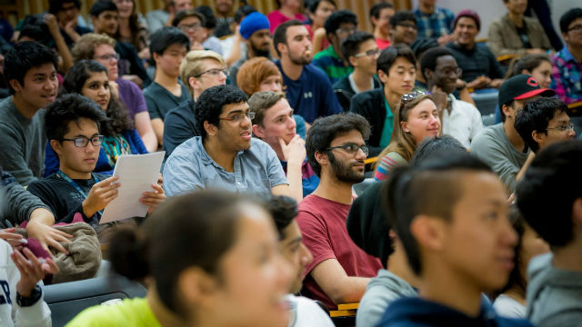 Students in UC San Diego class
