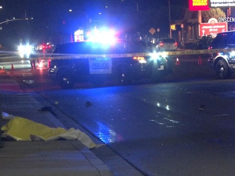 El Cajon pedestrian fatality crime scene