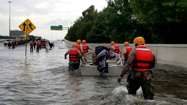 Texas National Guard in Houston