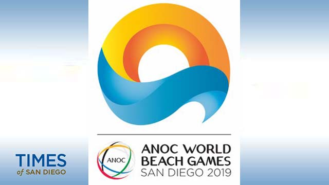 San Diego's logo for the 2019 ANOC World Beach Games was unveiled earlier this month.