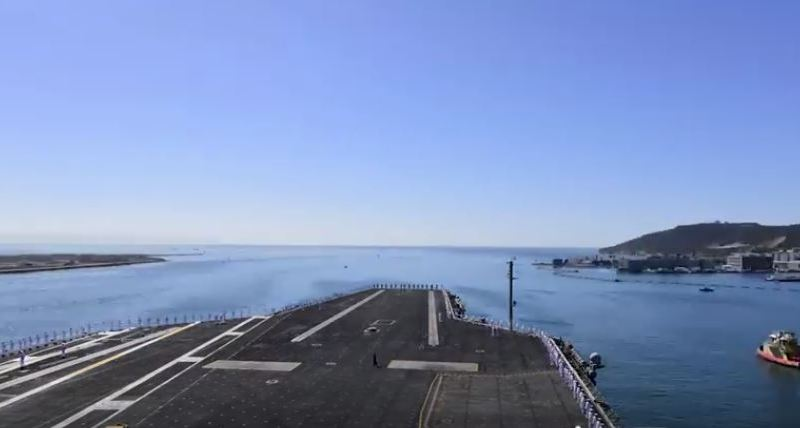 USS Theodore Roosevelt leaves San Diego Bay