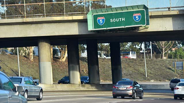 Southbound Interstate 5